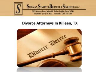 Divorce Attorneys In Killeen, TX