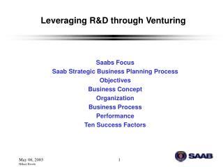 Leveraging R&D through Venturing