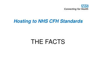 Hosting to NHS CFH Standards