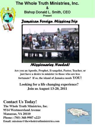 Missionaries Needed!
