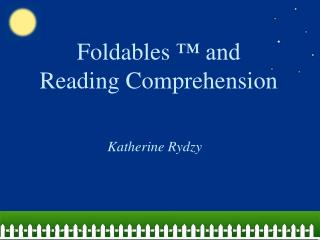 Foldables   and Reading Comprehension