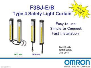 F3SJ-E/B Type 4 Safety Light Curtain