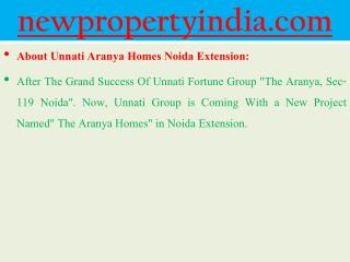 Unnati Fortune Group ((( 09654435045 ]] Aranya Homes Noida