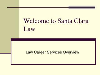 Law Career Services Overview 2010