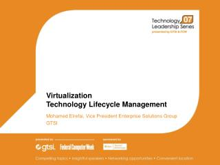 Virtualization  Technology Lifecycle Management