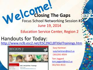 Closing The Gaps  Focus School Networking Session #2