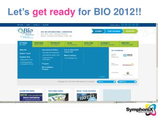 Let's  get ready  for BIO 2012!!