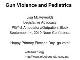 Gun Violence and Pediatrics