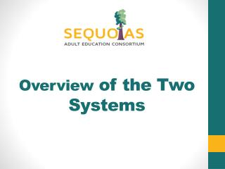 Overview  of the Two Systems