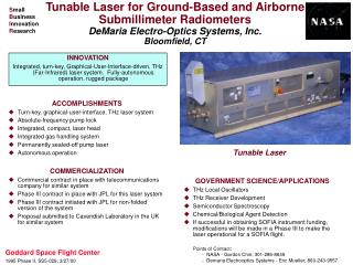 ACCOMPLISHMENTS Turn-key, graphical-user-interface, THz laser system Absolute-frequency pump lock