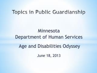 Topics in Public Guardianship