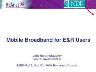 Mobile Broadband for E&R Users