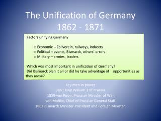 The Unification of Germany  1862 - 1871