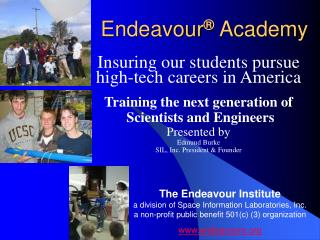Endeavour Academy Mission and Vision