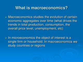 What is macroeconomics?