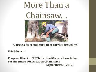 More Than a Chainsaw…