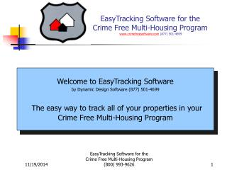 Welcome to EasyTracking Software by Dynamic Design Software (877) 501-4699