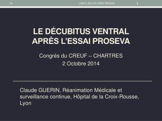 Le D�cubitus ventral  apr�s L�ESSAI  proseva