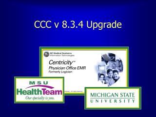 CCC v 8.3.4 Upgrade