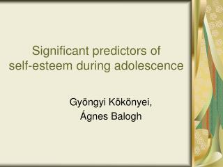 Significant predictors of  self-esteem during adolescence