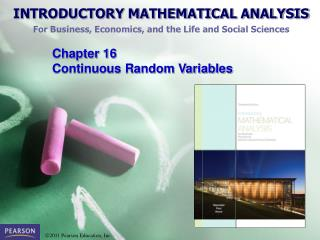 Chapter  16  Continuous Random Variables