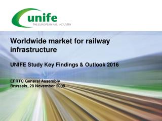 Worldwide market for railway infrastructure UNIFE Study Key Findings & Outlook 2016