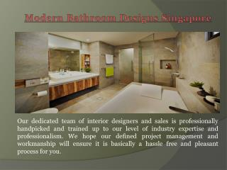 Bathroom Renovation Package Singapore
