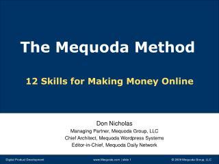 12 Skills for Making Money Online