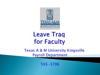 Leave Traq for Faculty