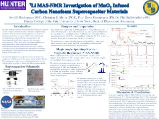 7 Li MAS-NMR Investigation of MnO 2  Infused  Carbon  Nanofoam  Supercapacitor Materials