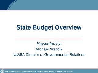 State Budget Overview