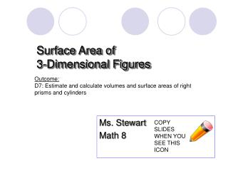 Surface Area of  3-Dimensional Figures
