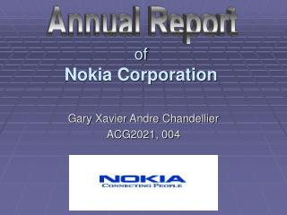 of Nokia Corporation