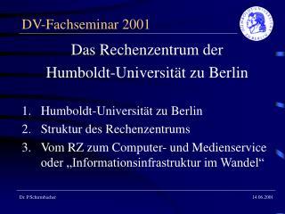 DV-Fachseminar 2001