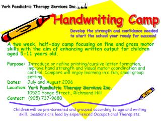 Handwriting Camp