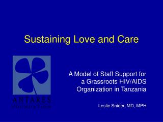 Sustaining Love and Care