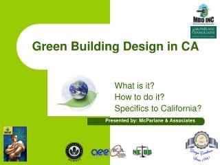 Green Building Design in CA