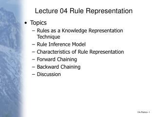 Lecture 04 Rule Representation