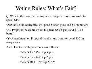 Voting Rules: What�s Fair?