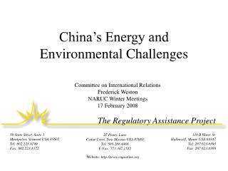 China's Energy and Environmental Challenges