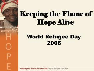 World Refugee Day 2006