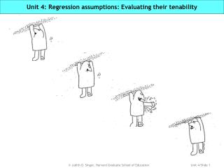 Unit 4: Regression assumptions: Evaluating their tenability