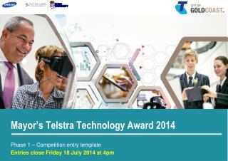 Mayor's Telstra Technology Award 2014