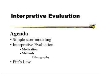 Interpretive Evaluation