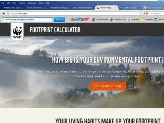 Ekološki otisak – kalkulator footprint . wwf .uk
