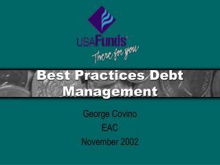 Best Practices Debt Management