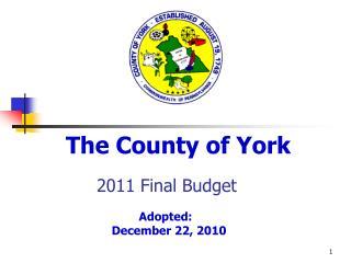 2011 Final Budget