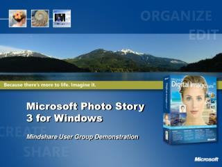 Microsoft Photo Story 3 for Windows