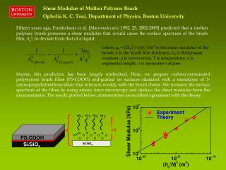 Shear Modulus of Molten Polymer Brush