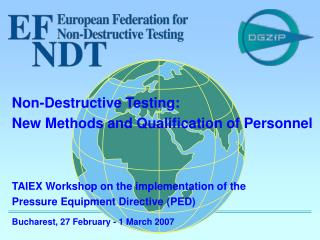 TAIEX Workshop on the implementation of the Pressure Equipment Directive (PED)